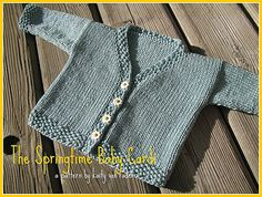 This month's free pattern is the Springtime Baby Cardi that is quick to knit out of 1 skein of Berroco Weekend, an easy care Cotton and Acrylic blend, perfect for baby items!