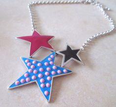 Statement+Enamel+Star+Necklace+from+ClutchandClasp+by+DaWanda.com