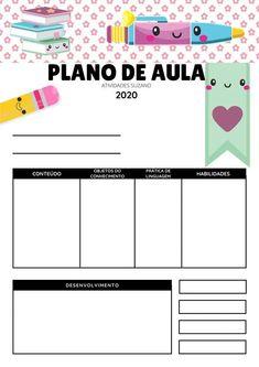 Modelo de plano de aula - Atividades Suzaninho Teaching Aids, St Thomas, Bar Chart, High School, Teacher, Scrapbook, Activities, Education, Homeschooling