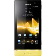 "Sony Xperia U White Yellow  Android, 3.5"" touchscreen"