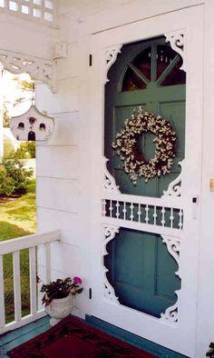 Victorian Screen & Storm Door | Custom Wellesley Model | www.VintageDoors.com