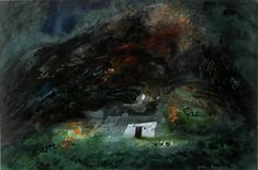 John Piper: Garn Fawr 1979 Abstract Landscape, Landscape Paintings, Abstract Art, Landscapes, John Piper Artist, Coventry Cathedral, Short Break, Stained Glass Windows, Artist Painting