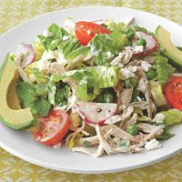 Chicken Salad with Peas, Feta, and Mint