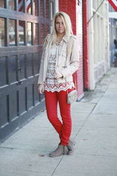 Fashionably Kay: Touch of Red