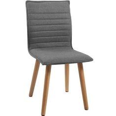 STUHL in Holz, Textil Eichefarben, Hellgrau - Stühle - Esszimmer - Wohn- & Esszimmer - Produkte