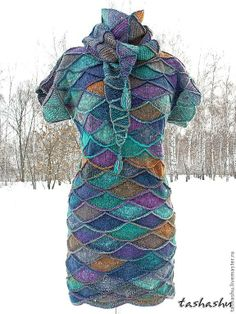 I'm thinking this technique with cotton fabric for a summer dress, jersey knit tunic, or possibly even a dressy version.