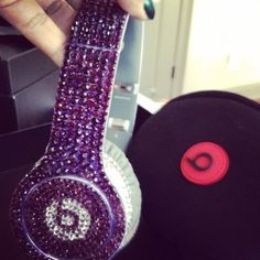 Bedazzled Beats by Dre headphones.