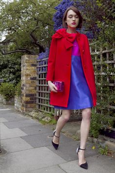 Ella Catliff in red and purple *Dressed