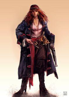 Pirate Woman Art | Pirate captain by carloscara