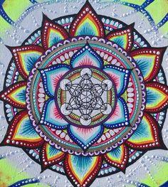 Mandala de la géométrie sacrée pour le Cube de par FromAylaWithLove