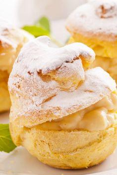 Cream Puffs with Vanilla Filling Dessert Recipe
