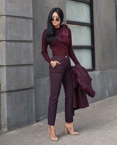 All burgundy
