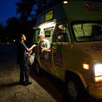 MASON TRINCA/MTRINCA@VICAD.COM  Malik Stouall, 14, orders an ice-cream during the National Night Out event on Seguin Avenue. Photos Of The Week, Night Out, Ice Cream, Van, Gallery, No Churn Ice Cream, Roof Rack, Icecream Craft, Vans