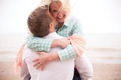Beach Engagement Session, Dog Engagement Session, J.Crew Style, Door County Wedding  photo by mthreestudio.com