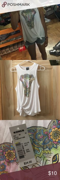 Elephant tank Never wore before Modern Lux Tops Muscle Tees