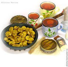 Советские времена картошечка шпроты компот кукольная миниатюра - Чудеса в ладошке (Акинина Марина)