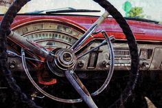 Vintage Chevy Dashboard  Classic Auto  Old by ScarolaPhotography