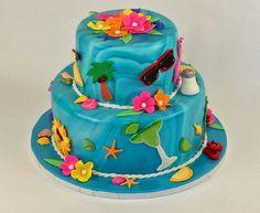 beach-inspired summer cake
