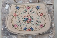 Floral Tapestry Vintage Purse / Womens Retro Bag / 60s Embroidered Bag / 60s Costume / Vintage Photoshoot Props / Retro Handbag / Floral Bag by CoverVintage on Etsy