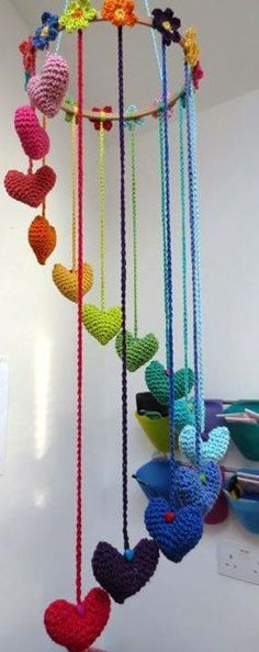Rainbow wall hanging x