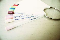 DIY organize nail tips polish display