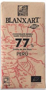 Blanxart 125g. Ciocolata organica neagra, 77% cacao Peru. BIO
