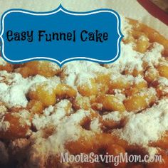 Easy Funnel Cake | Recipe | Funnel Cakes, Fried Dough Recipes and ...