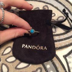 Pandora Ring brand new, never worn December birthstone Pandora Jewelry Rings