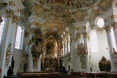 #Wieskirche is in the middle of an open field in #Germany and is stunning to visit! #Travel