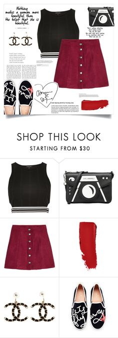 """""""Untitled #64"""" by fantasticbabe ❤ liked on Polyvore featuring River Island, Karl Lagerfeld, H&M, Chanel and Kate Spade"""