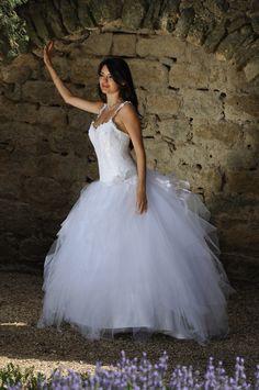 Les Mariées de Provence, Calanque Unique Weddings, Provence, One Shoulder Wedding Dress, Dream Wedding, Wedding Dresses, Pretty, Fashion, Godly Marriage, Bridal Collection