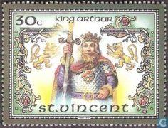 King Arthur Stamps Saint-Vincent