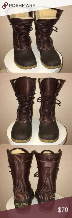 """Bean Boots by L.L.Bean®, 10"""" Shearling-Lined Women's bean boots with added shearling lining. Super warm and cozy, perfect for winter! L.L. Bean Shoes Winter & Rain Boots"""