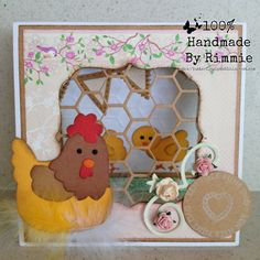 Made by Designer of the month Rimmie. Collectable Chicken COL1351, Chickenwire Design Folder DF3404