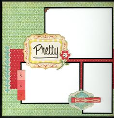scrapbook page layout