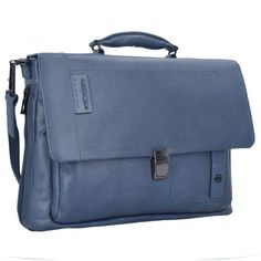 Piquadro P15S Aktentasche Leder 42 cm Laptopfach blue Messenger Bag, Satchel, Laptop, Bags, Fashion, Handbags, Moda, Satchel Bag, Totes
