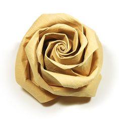 DIY Kawasaki rose origami flower