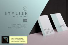 Stylish - Business Card 97 by Cooledition on @creativemarket