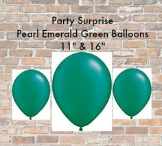 Check out this item in my Etsy shop https://www.etsy.com/listing/254172968/pearl-emerald-green-balloons-11-16