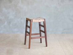 Leather Barstool - Natural
