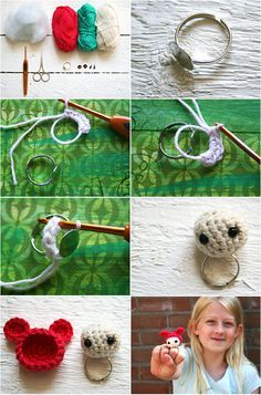 DIY Tsjuus Monster Rings - free crochet pattern (dutch, eng) #little_girls