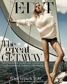 Lily stars on the cover of The Edit's Great Getaway Issue<br>Picture: Raf Stahelin, courtesy of The Edit