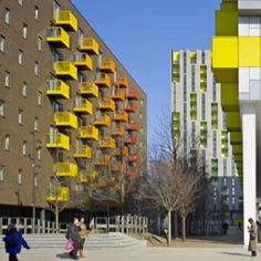 Yellow balconies