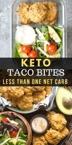 These easy Keto Taco Bites are packed with spicy taco meat and shredded cheese! These little bites are less than one net carb per bite which makes them perfect for keto meal prep!  #keto #mealprep
