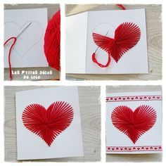 easy diy valentines for kids to share at school Valentines For Kids, Valentine Day Crafts, Valentine Ideas, Valentines Bricolage, Paper Embroidery, Mothers Day Crafts, Valentine's Day Diy, Diy Birthday, Love Cards