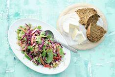 Wat een heerlijke combinatie: couscous met aardse snijbiet, friszoete appel, zoute macadamianoten en romige kaas - Recept - Allerhande