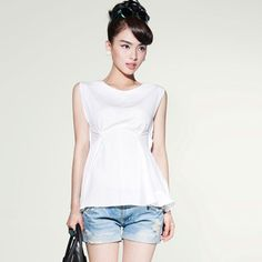 Sleeveless Women's dressy tops White Sky Blue | Stuff I Need