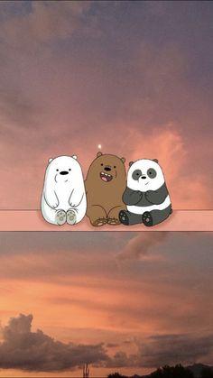 Cute Panda Wallpaper, Bear Wallpaper, Kawaii Wallpaper, Cute Wallpaper Backgrounds, Pretty Wallpapers, Aesthetic Iphone Wallpaper, Galaxy Wallpaper, Nature Wallpaper, We Bare Bears Wallpapers