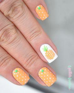 nailstorming summer fruits pineapple nails