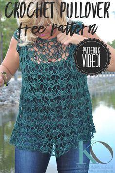 Fabulous Crochet a Little Black Crochet Dress Ideas. Georgeous Crochet a Little Black Crochet Dress Ideas. Crochet Video, Easy Crochet, Crochet Lace, Free Crochet, Modern Crochet, Thread Crochet, Gilet Crochet, Crochet Shirt, Crochet Cardigan